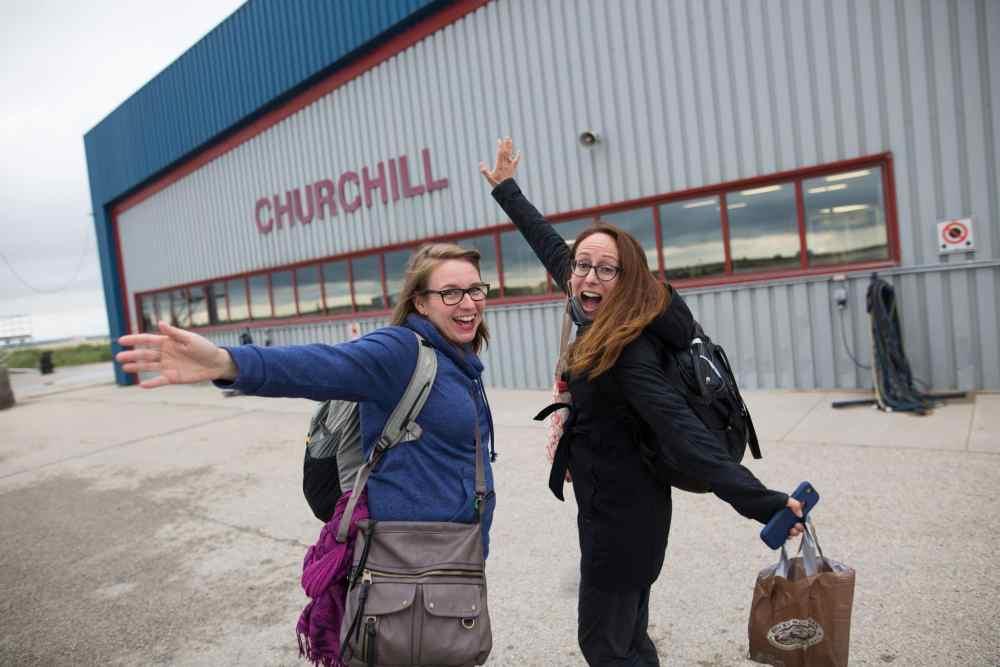 Arrivée à l'aéroport de Churchill
