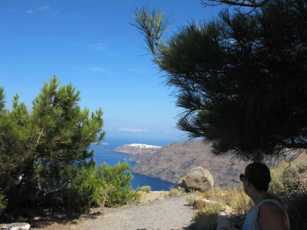 Vue sur Oia à Santorini
