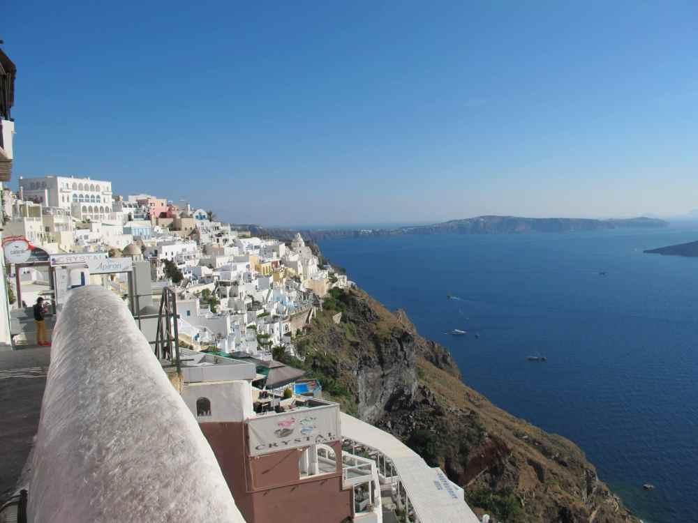 La vue sur la Caldera de Fira, Santorini