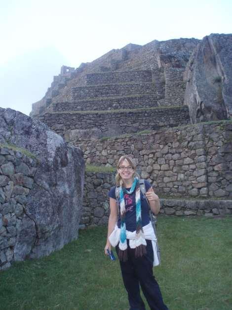 Maude sur le Machu Pichu le matin
