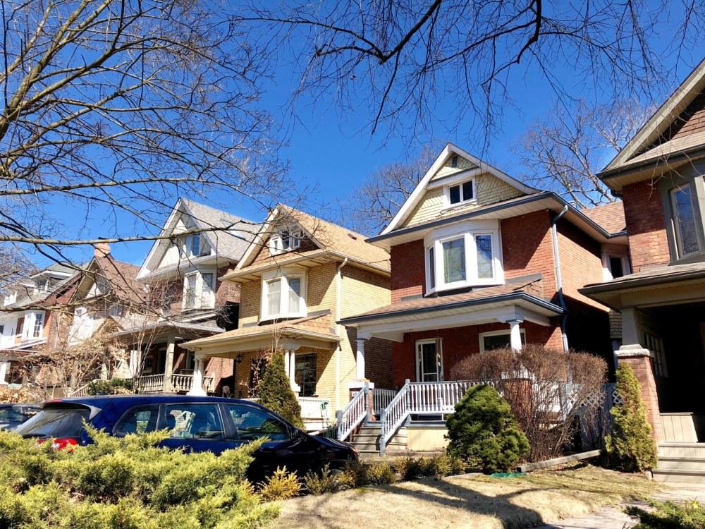 Les jolies maisons du quartier The Beaches à Toronto