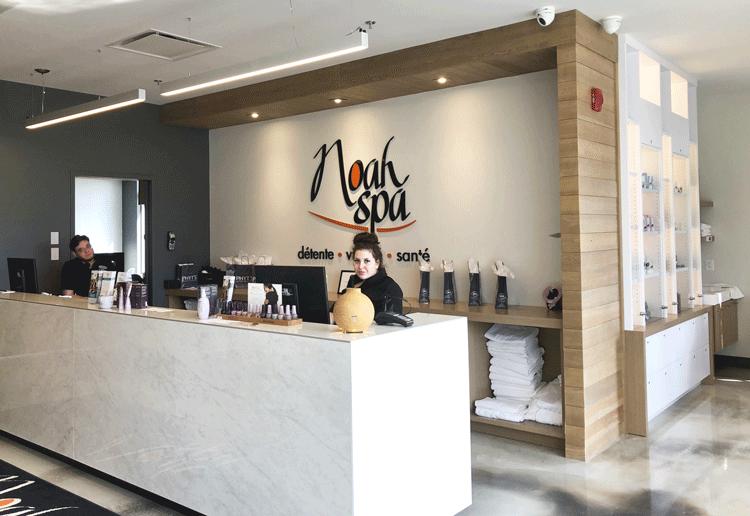 Réception du Noah Spa à Venise-en-Québec à l'hôtel La Cache du Lac Champlain