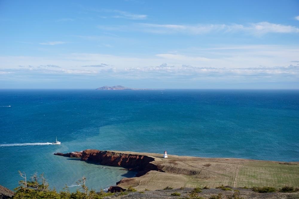 Phare du Cap Alright vue de la Butte Ronde Iles de la Madeleine
