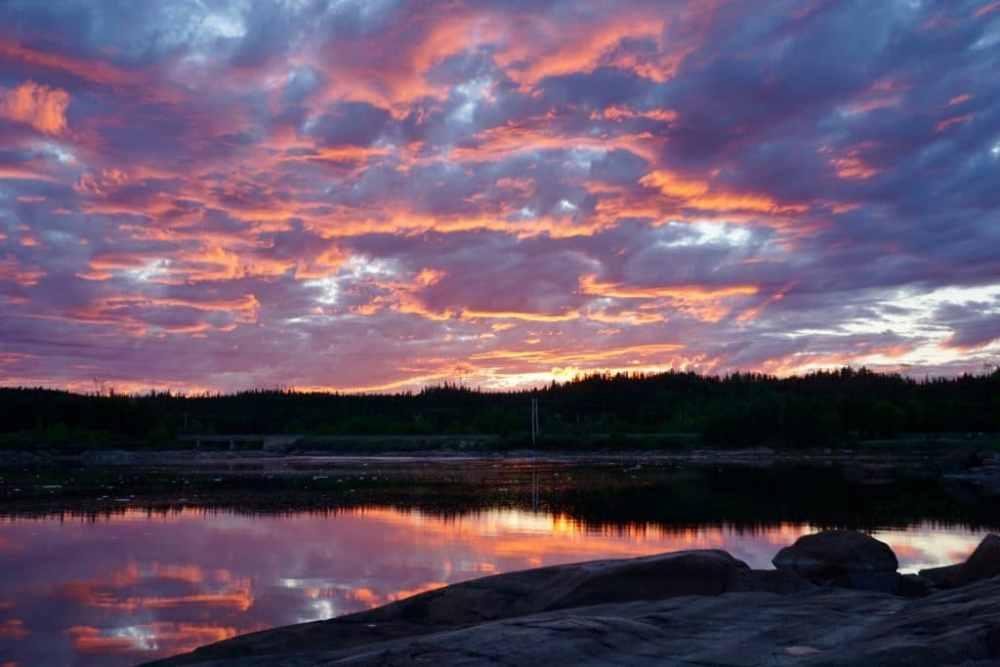 Coucher soleil parc Aylmer Aux Écureuils à Sept-Îles