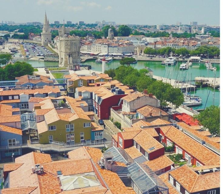 La Rochelle vue de la Grande Roue, Nouvelle-Aquitaine, France