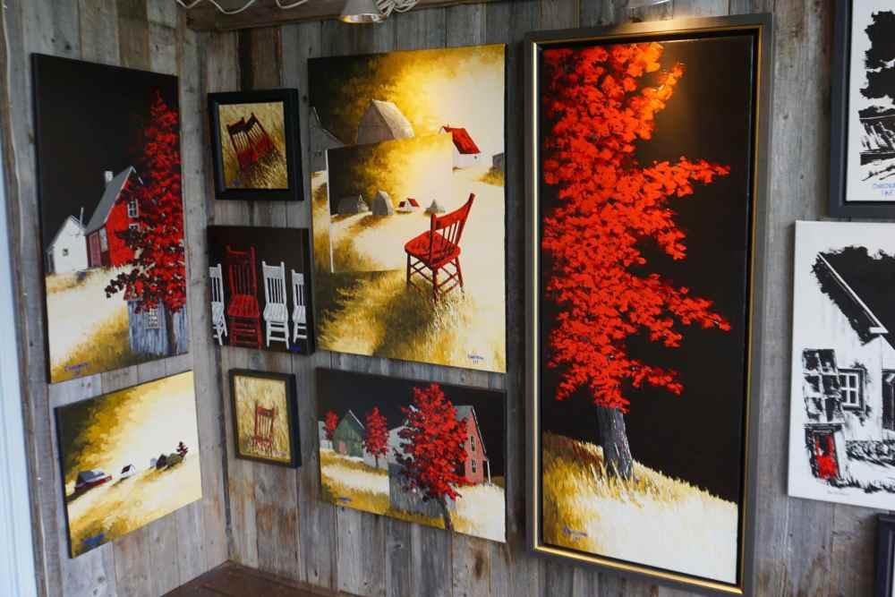 Atelier de Courchesne, peintre, sur le Chemin des Artisans en Appalaches