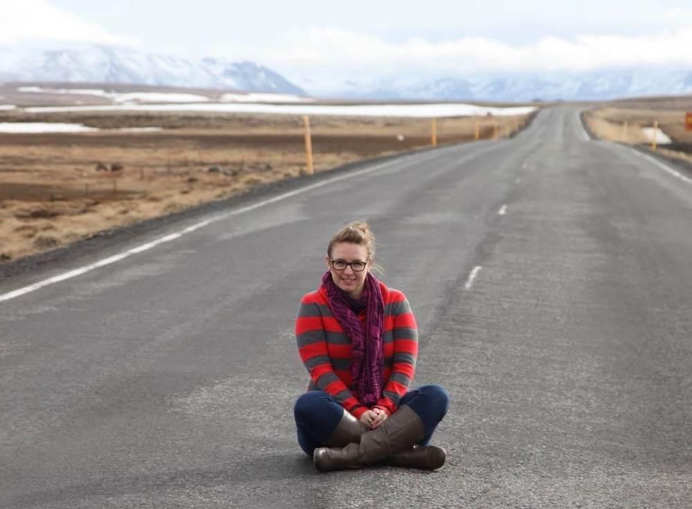MC Globetrotteuse en Islande en mai 2016 sur le Cercle d'Or