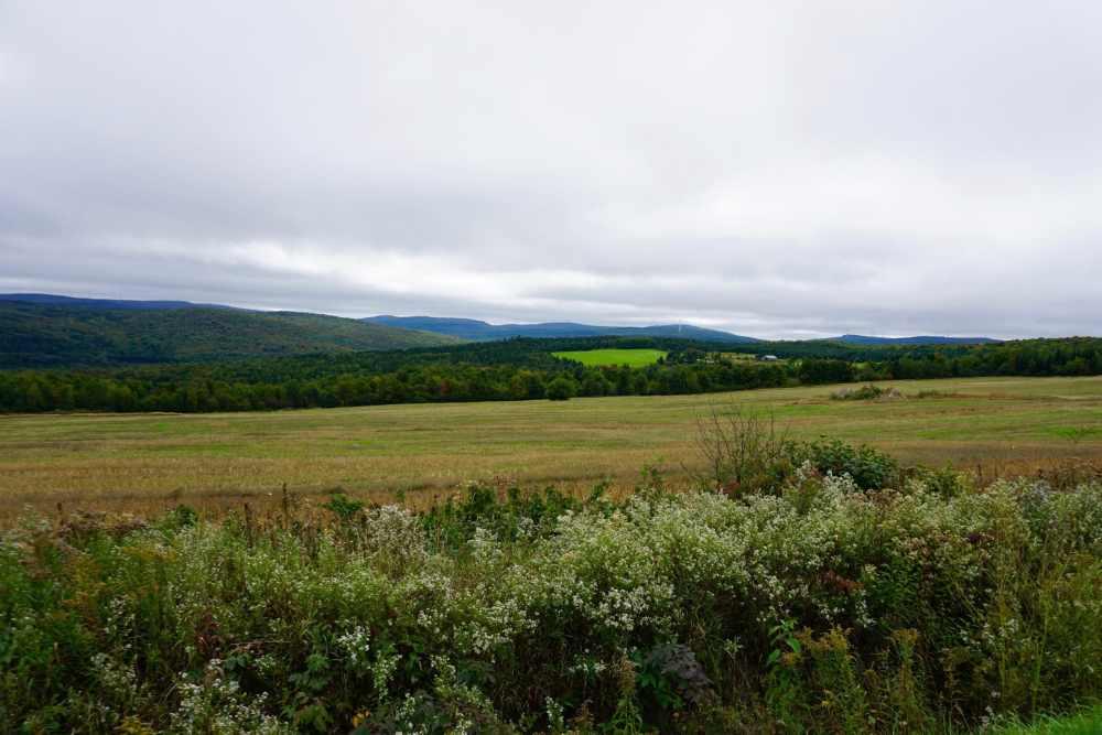 Paysage de la vallée au pied des Appalaches Québec
