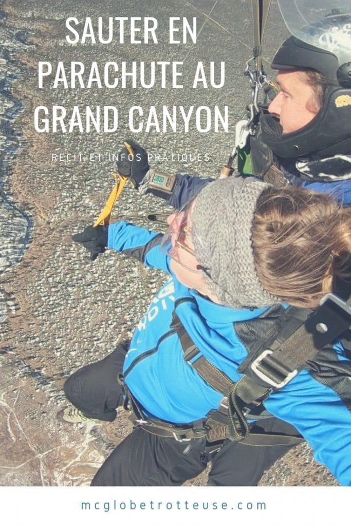 Sauter en parachute au Grand Canyon en Arizona