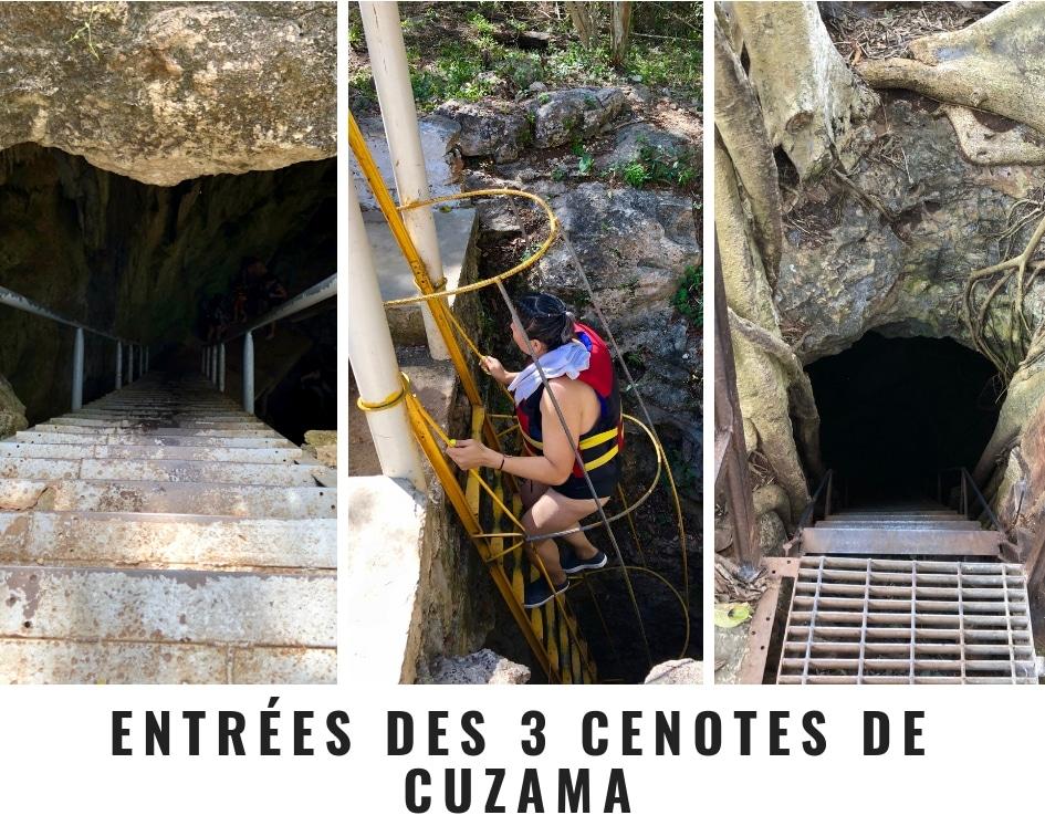 Les entrées et accès aux cenotes de Cuzama au Mexique sont plutôt difficiles