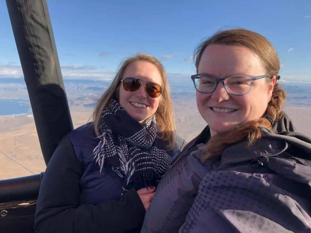 Montgolfière en Arizona avec Moi, mes souliers