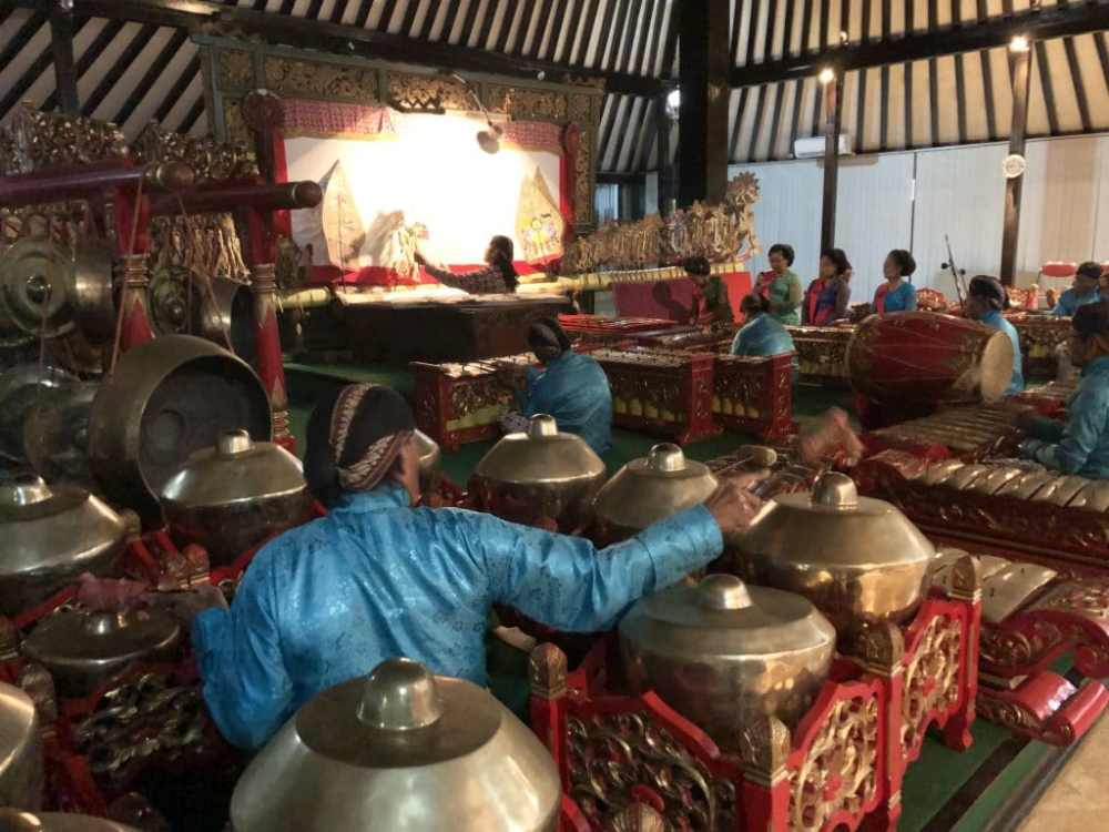 Spectacle au musée Sonobuduyo à Jogja avec le fameux Gelang