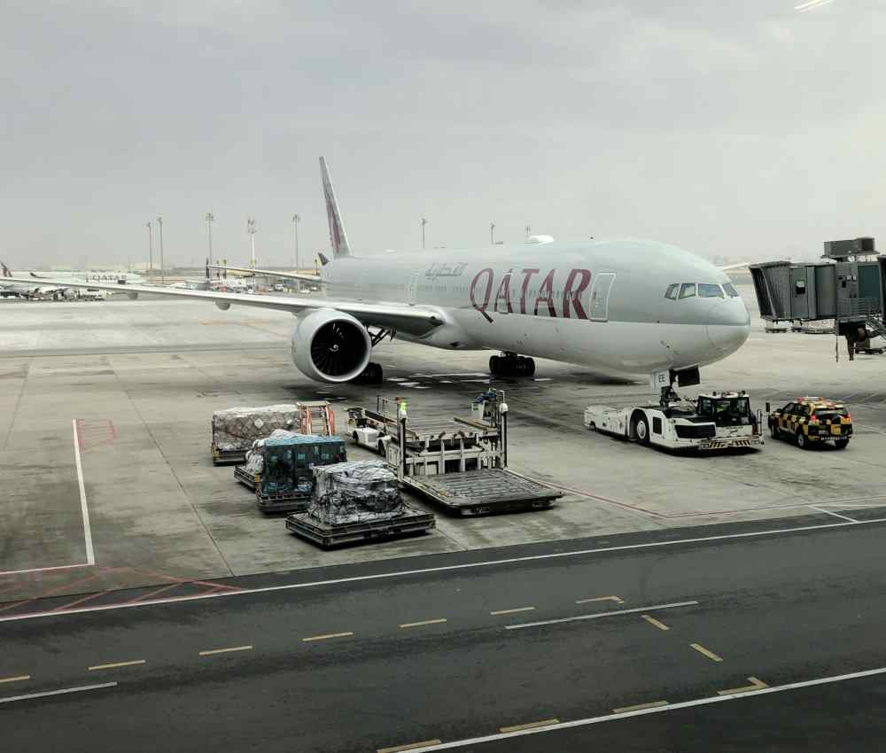 Qatar Airways Aéroport de Doha à la porte d'embarquement