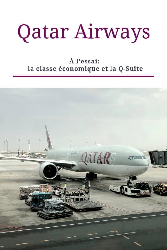 Qatar Airways: à l'essai, la classe économique et la Q-Suite. Pinterest