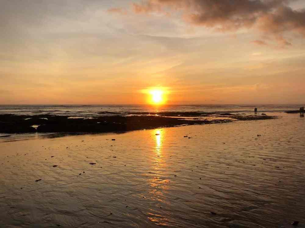 Coucher soleil Canggu Bali Indonésie