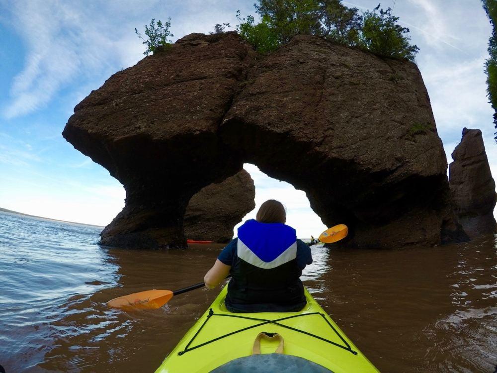 Kayak à Hopewell Rocks NB