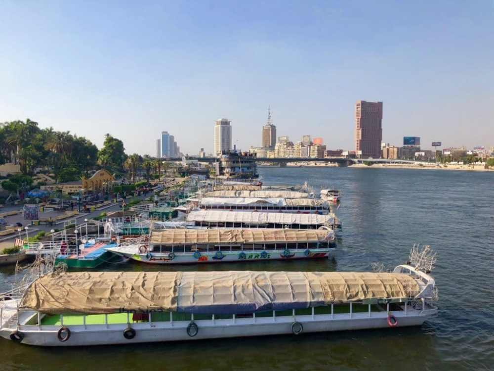 Bateaux sur le Nil au Caire Égypte