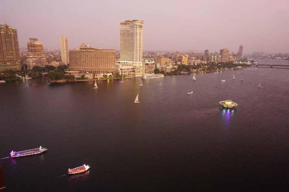 Coucher de soleil depuis l'hôtel Sofitel ElGezirah