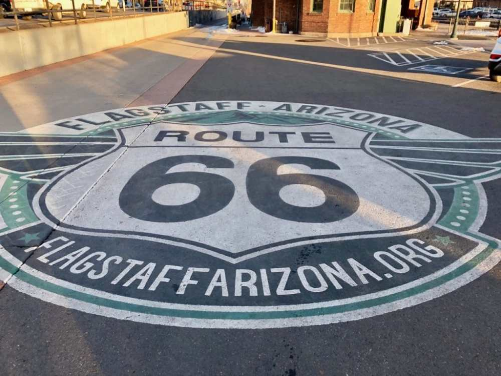 Enseigne Route 66 Flagstaff Arizona