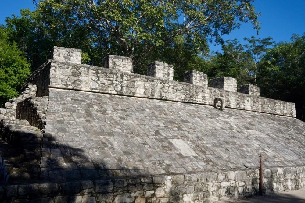 Terrain de jeu de balle aux ruines de Coba Mexique
