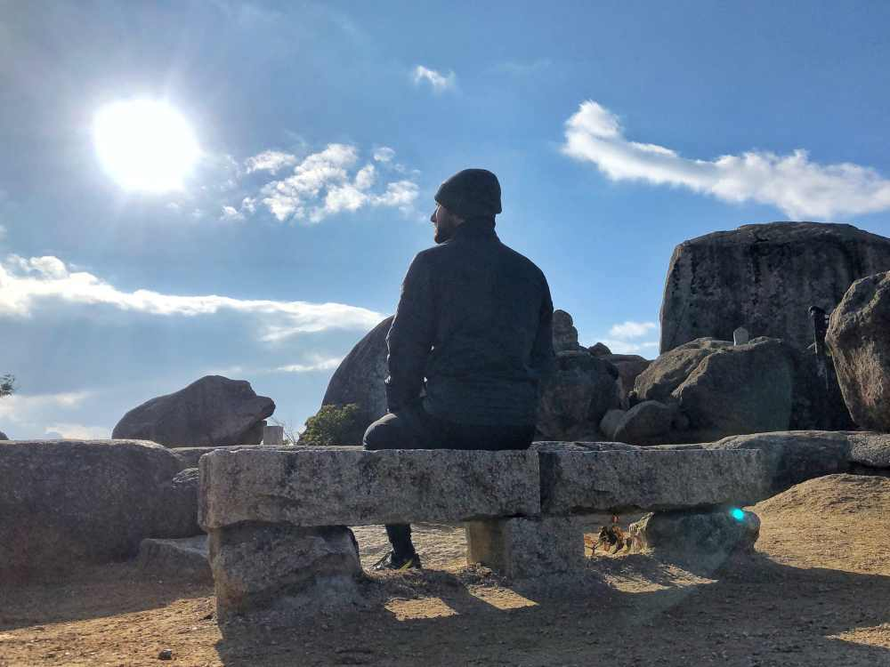 Au sommet de Miyajima Japon