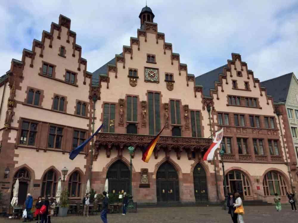 Francfort place centrale Allemagne