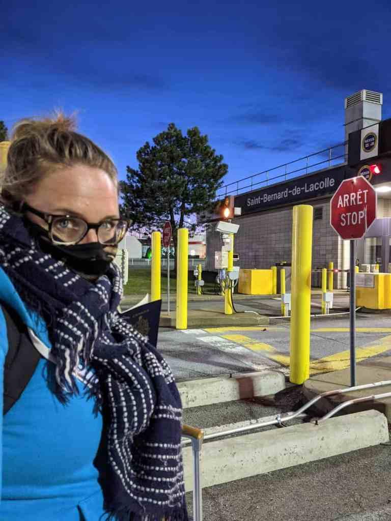 Mon arrivée aux douanes de Saint-Bernard-de-Lacolle par une froide soirée
