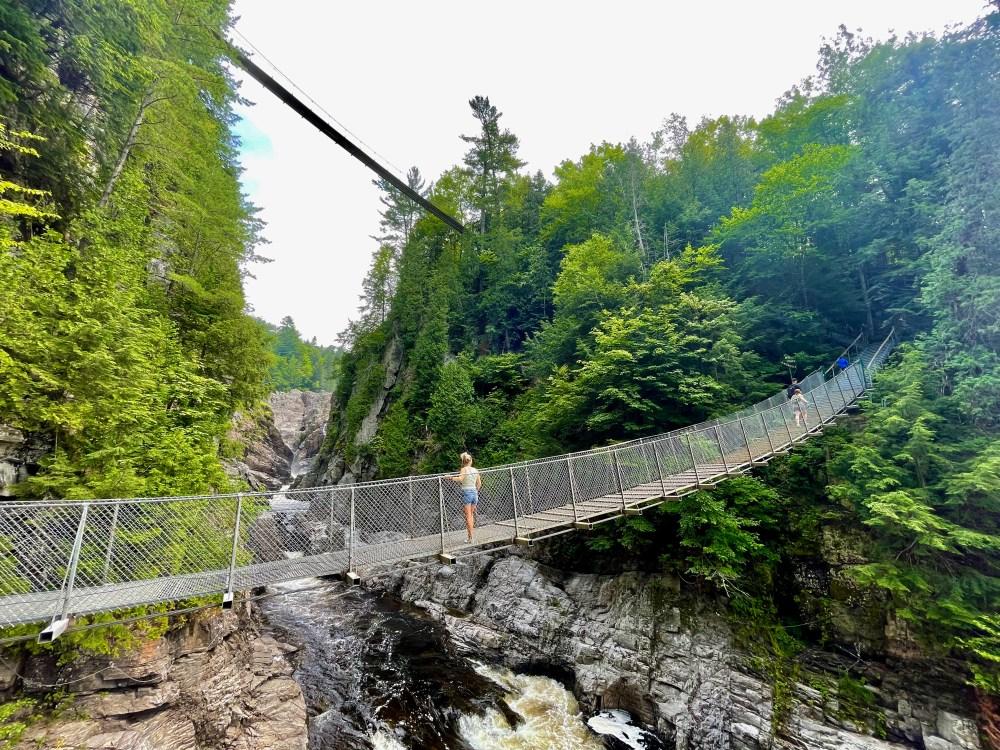 Dernier pont suspendu au Canyon Sainte-Anne