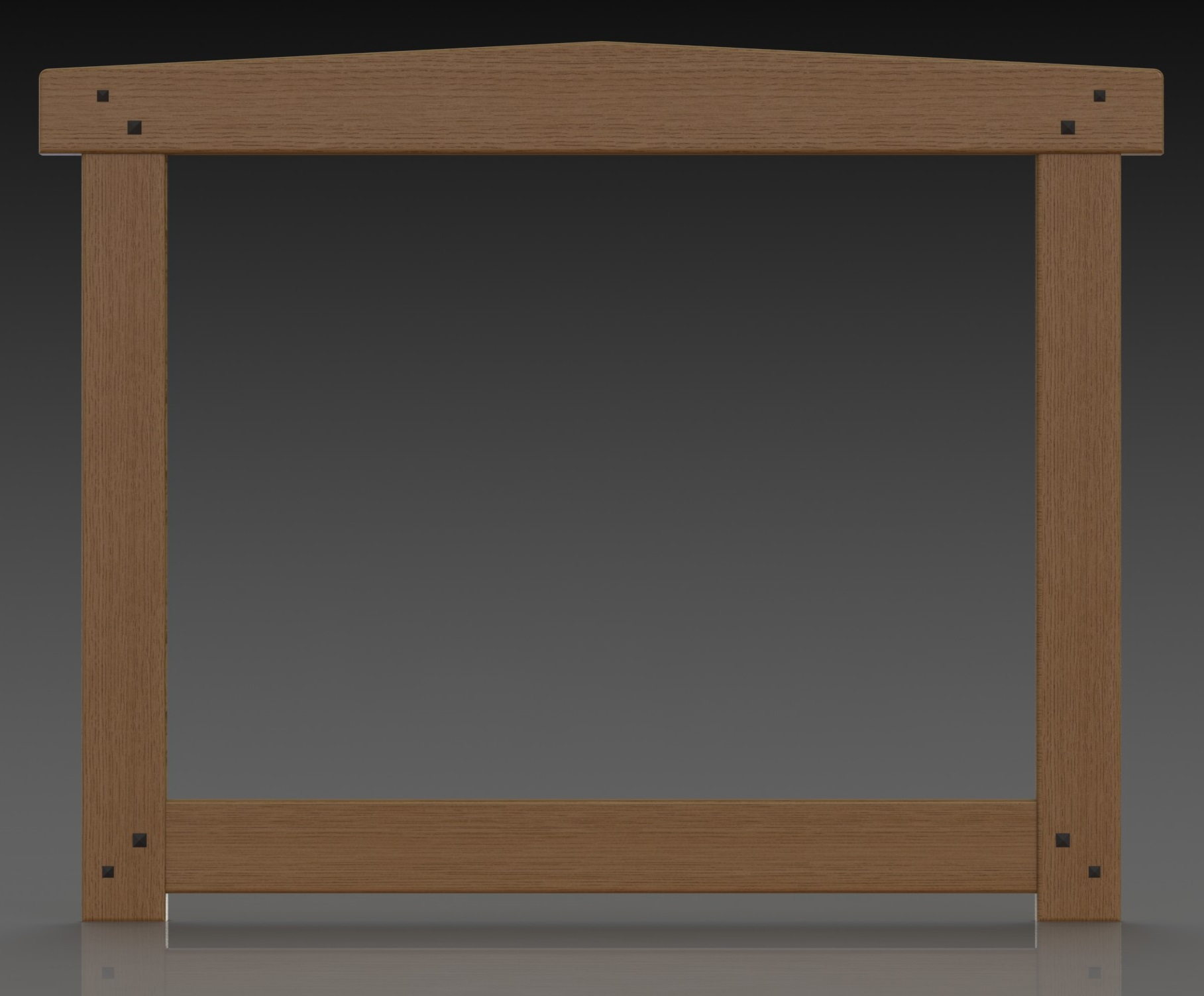 mission style picture frame mcglynn
