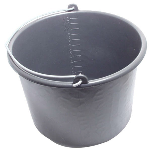 Vödör 12 l műanyag fekete