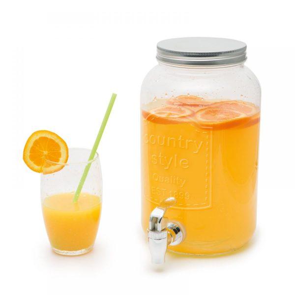 Italadagoló csappal,  üveg-3 Liter