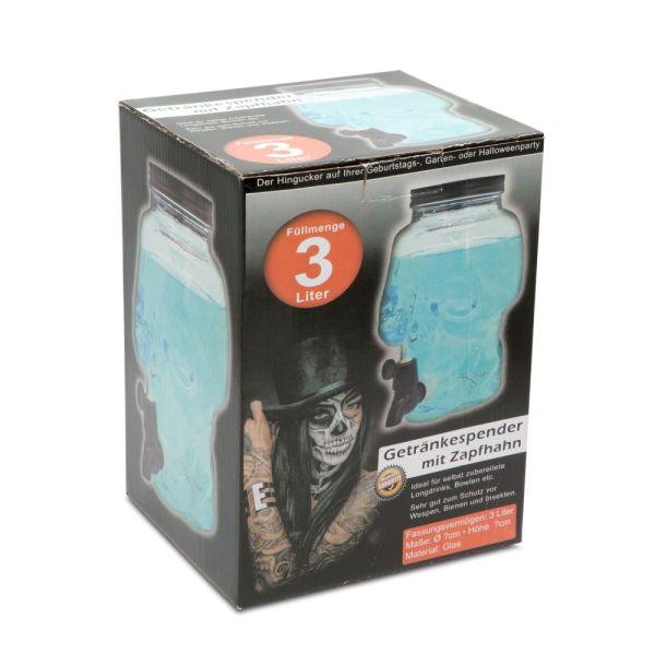 Koponyafejes Italadagoló csappal 3 Liter (üveg)