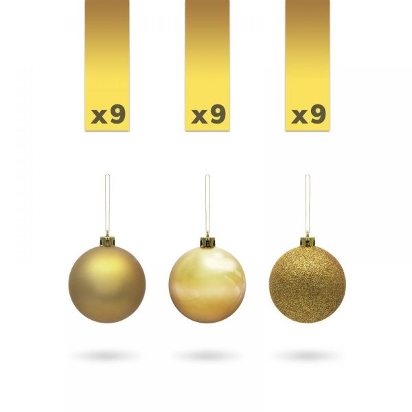 Gömbdísz szett - 3 cm arany