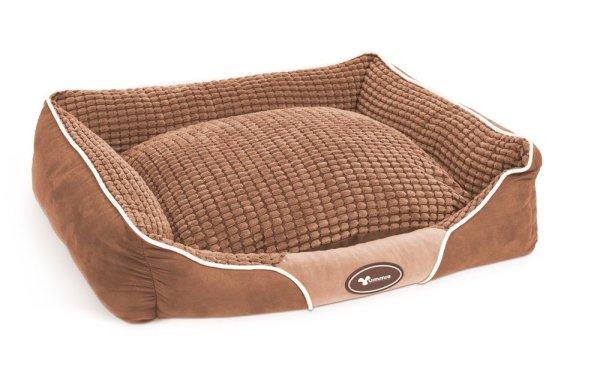Kutyafekhely - 60 x 50 barna/szürke/rózsaszín
