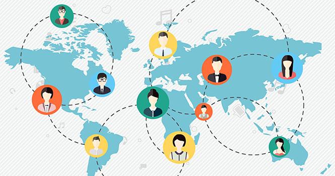 Global Collaboration Illustration