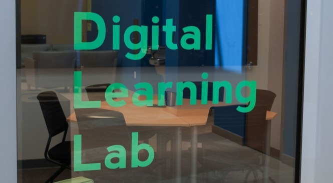 new collaboration space inside the Digital Learning Lab