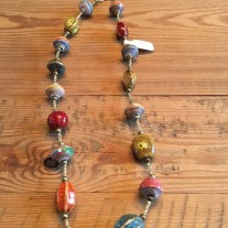 mixed bead bright necklace