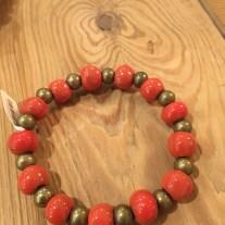red clay stretch bracelet
