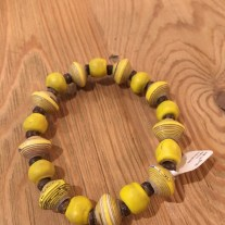 yellow mixed stretch bracelet