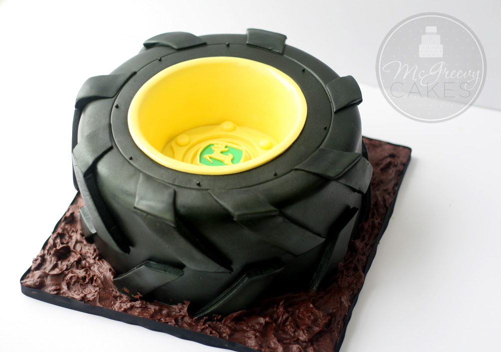 Tractor Tire Cake With A Free Video Tutorial McGreevy