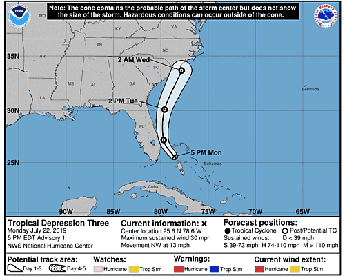 Remnants of Three 5-Day Uncertainty Track Image