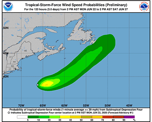 Tropical Storm Dolly 34-Knot Wind Speed Probabilities