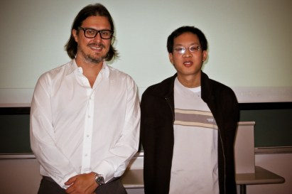 Dr. Matei Radulescu with student Justin Tang