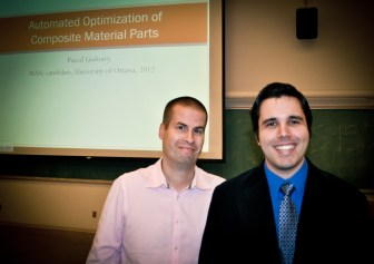 After some coaxing, we manage to convince Dr. Robitaille to let me take his picture.