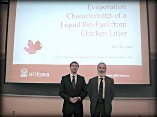 Erik Tolonen with supervisor Dr. William Hallett