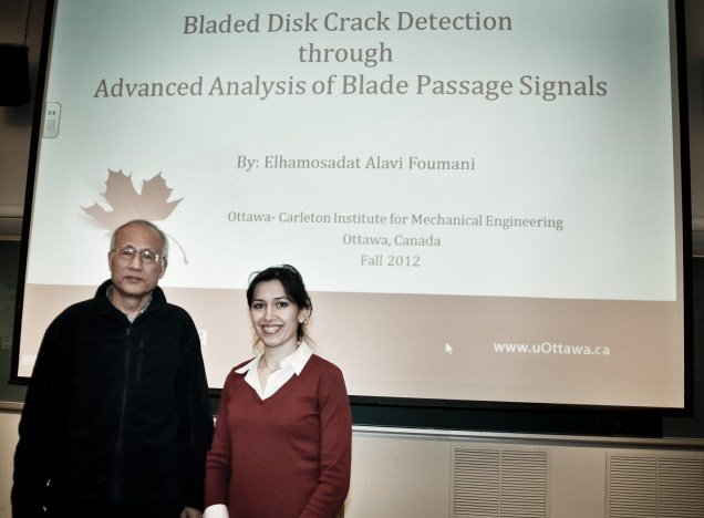 Dr. Ming Liang with student Elham Alavi after her thesis seminar, February 2013.
