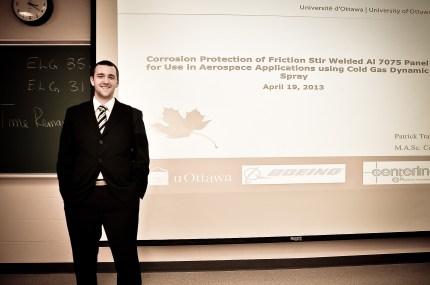 Patrick Trahan presented his MASc thesis seminar.