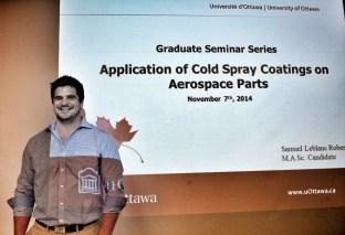 Sam Leblanc-Robert at his MASc thesis seminar talk.