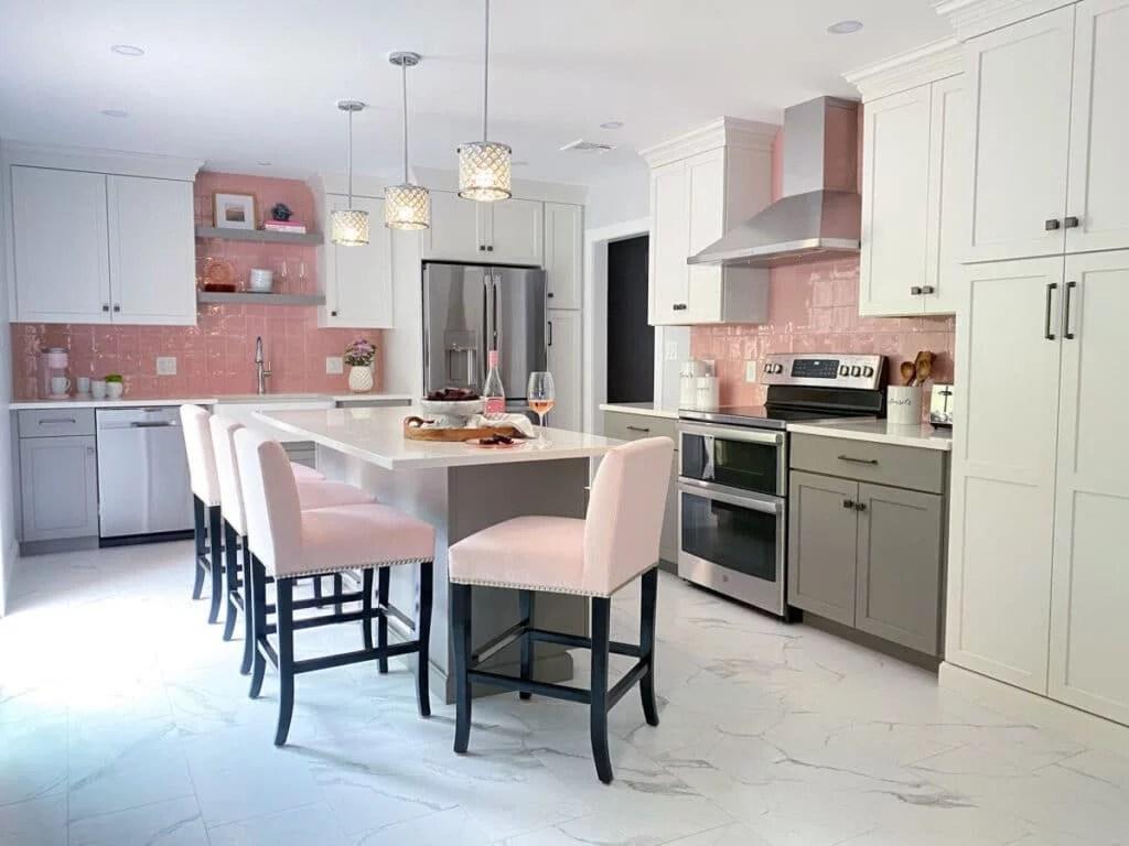 pink kitchen mcguire co kitchen