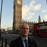 Ciarán MacAirt at Westminster, London